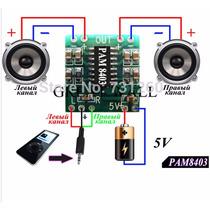 Amplificador Digital Stereo 3+3w Rms Classe D 20pçs R$140,00