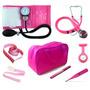 Kit Pink Enfermagem - Esteto,esfig,term,lanter,garrote,fita