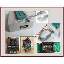 Novo Gravador De Eprom Tl866a Avr/pic Icsp Spi +13.000 Chip