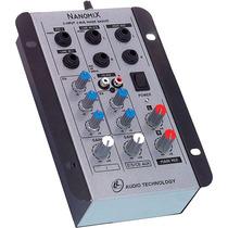 Mesa De Som Mixer Nanomix Na202r 02 Canais - L L Áudio