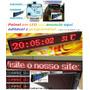 Painel Letreiro Led Digital Editado Digitado 1mt X 20cm