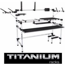 Rack Studio Rs345 Titanium P/ Teclado + Computador + Acess.