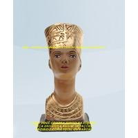 Escultura Busto Deusa Egipicia Nefertite Linda Imagem 20cm