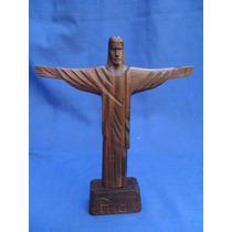 Cristo Redentor Em Madeira Jacarandá