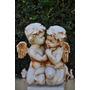Estatua Anjos Abraçados - Ef232 Decoração De Casa E Jadim