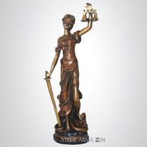 Deusa Da Justiça 50cm - Escultura Estatueta Enfeite