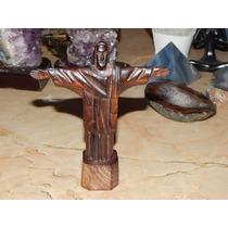 Cristo Redentor Esculpido Em Madeira Jacarandá
