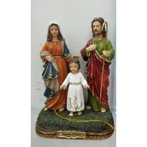 Escultura Imagem Sagrada Familia Em Resina De 22cm