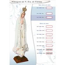 Imagem De Nossa Senhora De Fátima Em Resina Portuguesa 55cm
