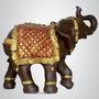Elefante Gigante Com Manto - Escultura Estatua Estatueta