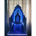 Castelo Elsa Frozen - Isopor Com Led - 1 Metro De Altura -