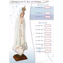 Imagem De Nossa Senhora De Fátima Em Resina Portuguesa 35cm
