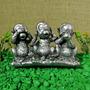 Trio De Macacos Sábios Cego Mudo Surdo - Pague Com Cartão
