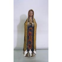 Escultura Imagem Nossa Senhora De Fatima 29cm Resina