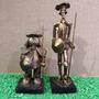 Dom Quixote De La Mancha E Sancho Pança Estatueta Decoração