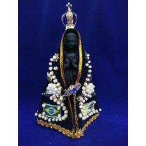 Escultura Imagem Nossa Senhora Aparecida 19cm Resina