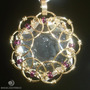 Pingente Mandala Cor Ouro Com Cristal Estrela De Davi