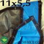 Super Lona 500 Micras 11x5,5 M Argolas Plástica Impermeável