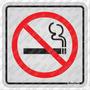 Placa De Aluminio 12x12 Cm Proibido Fumar - Sinalize