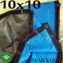 Super Lona 500 Micras 10x10 M Argolas Plástica Impermeável