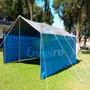 Lona Azul Cinza Pppe 8x4 M Para Barraca Tenda Toldo Proteção