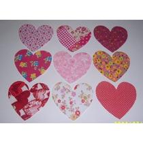 Tecidos Cortados- Coração - Para Seu Trabalho De Patchwork