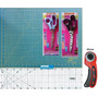 Kit Base De Corte 60 +régua 60 +cortador + 2 Tesouras