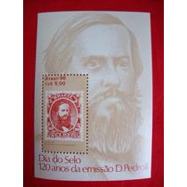 Bloco: Dia Do Selo - 120 Anos Da Emissão D. Pedro Ii (1986)