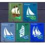 Selo Polônia,série Barcos A Vela Poloneses 1974,usado.descr.