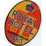 Etiqueta Antiga De Hotel Francês - Anos 1940