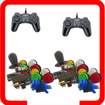 Kit Arcade 2 Comandos 20 Botoes Nylon 2 Controles Usb