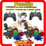 Kit Arcade 2 Comando 20 Botoes Nylon 2 Usb 2 Chicotes Brinde