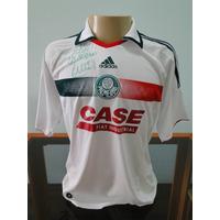 Camisa Palmeiras 2009 Autografada A Mão Pelo Evair