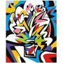 Paulo Consentino - Vaso Com Flores Colorido - Glicée