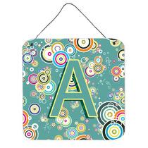 A Carta Do Círculo Teal Recados Alfabeto Inicial Ou A Suspe