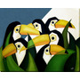 Quadro Decorativo Gravura Assinada Pintura Cubismo 100x80cm.