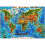 Mapa Mundi Ilustrado Mundo Animais Espécies Características