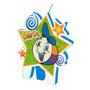 Vela De Festa De Aniversário Crianças Diante Do Trono Bolota