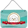 Branco Poodle Recados Feliz Natal Ou A Suspensão Da Porta P