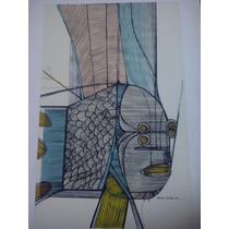 Aldemir Martins - Peixe Sereno - Gravura - 3s Arte
