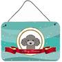 Silver Gray Poodle Recados Feliz Natal Ou A Suspensão Da Po