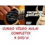Aulas De Guitarra E Violão Em 4 Dvds