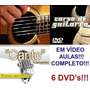 Aulas De Guitarra + Violão + Canto Em 6 Dvds