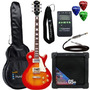 Kit Guitarra Les Paul Clp79 Cherry Strinberg + Cubo + Acess