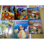 Lote 6 Livrinhos Cinderela Mogli Pinóquio Bambi Flintstones