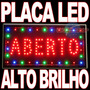 Placa Led Luminoso Comunicação Visual Para Casa Restaurante