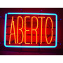 Display Luminoso Neon Aberto