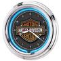 Relógio Neon Personalizado Harley Cerveja - 12x Sem Juros!