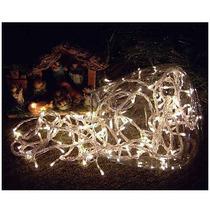 Pisca Pisca De Natal Branco 100 Micro Lâmpadas 8 Funções