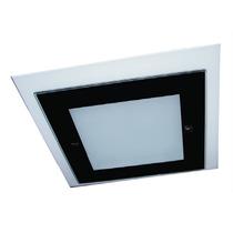 Plafon Quadrado Com 2 Vidros - 2068